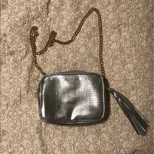 Victoria's Secret Silver Metallic Purse