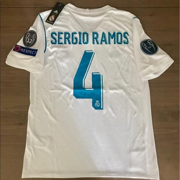 4177093ef Real Madrid Sergio Ramos  4 adidas soccer jersey
