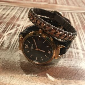Fossil watch and bracelet