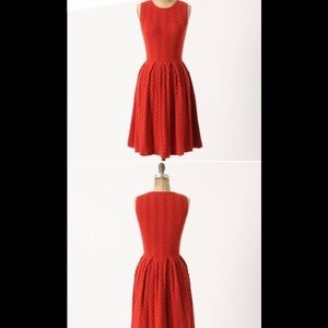 Anthropologie red sweater dress sz small