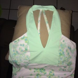 Lululemon tank top with flower design