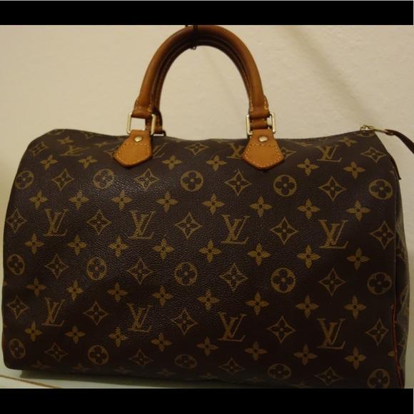 373b935f88ed Louis Vuitton Handbags - Authentic Louis Vuitton Speedy 35 Monogram Canvas