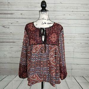 Sanctuary long sleeve summer blouse