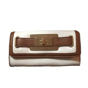 Handbags - ALDO white and brown wallet