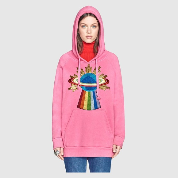 Gucci - Gucci style oversize pink sweatshirt hoodie S BN ...