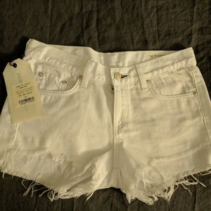 Rag & Bone White Jean Shorts