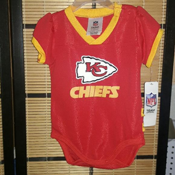 meet 6ee39 6836c NFL Kansas City Chiefs Baby Girls Onesie/Bodysuit Boutique