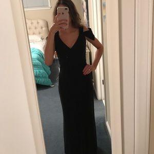 Dresses & Skirts - Macy's V-Neck Off-the-Shoulder Floor Length Dress
