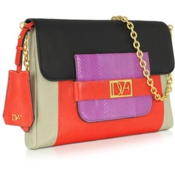 Diane Von Furstenberg Handbags - DVF mimosa colorblock leather purse