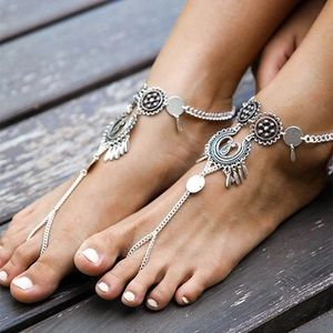 Jewelry - New Boho Silver Foot Chain Anklet