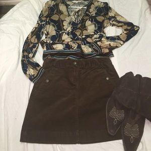 J Crew size 0 corduroy mini skirt.