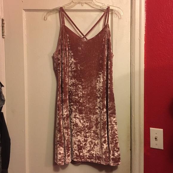 Jcpenney Dresses Jcpenney Arizona Pink Velvet Slip Dress 9s Xl Poshmark