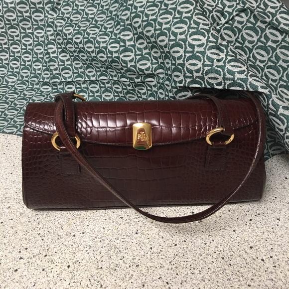 ... where to buy ralph lauren brown alligator leather bag vintage 3e191  48d15 4dcdde2699759