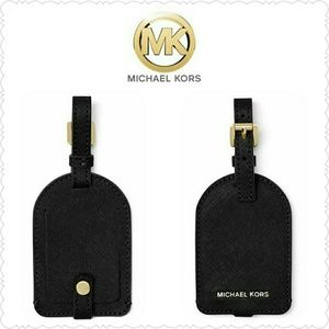 *SOLD* NEW MK Luggage Tag in black