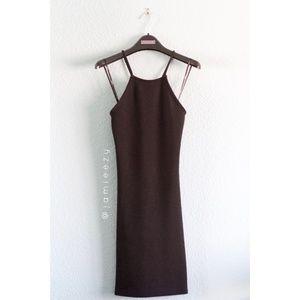 F21 | Textured Bodycon Halter Dress