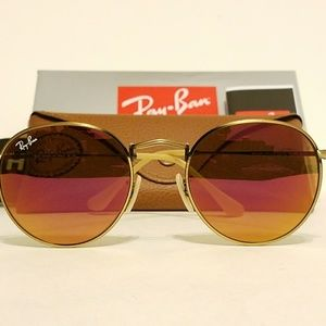 SALE Ray Ban Round rb3447 Brushed Bronze/Red mirr