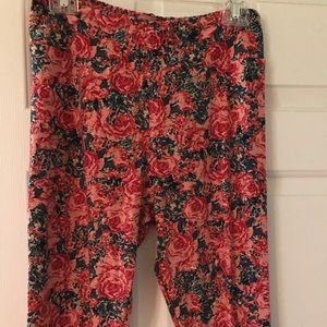 Pants - Lularoe Tc floral.  New