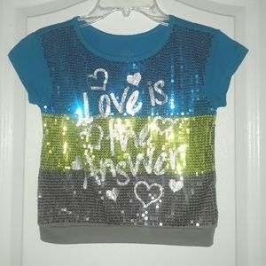 Other - **SOLD**Girl Sequin Shirt