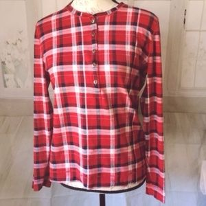 Lauren Jeans Ralph Lauren Red Plaid Long Sleeve  L