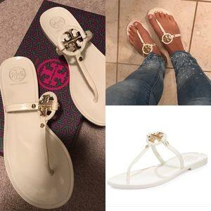 ad7bec3b6 Tory Burch Shoes - Tory Burch mini Miller jelly thong sandal ivory 6
