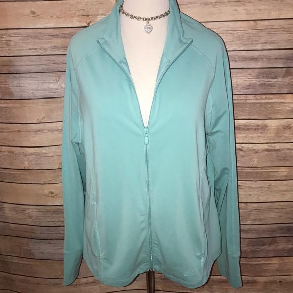 cd8bd18515e6 adidas Jackets   Blazers - Adidas Tiffany Blue Track Jacket