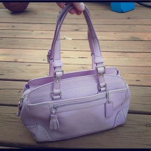 Coach Purse, Lavender pebbled leather - rare!