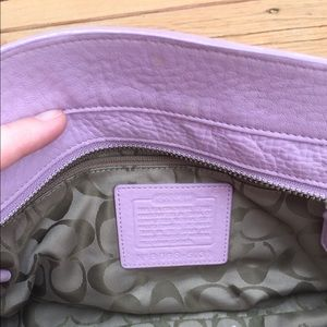 Coach Bags - Coach Purse, Lavender pebbled leather - rare!