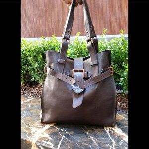 Handbags - Mulberry. Textured leather large brown tote