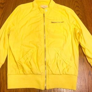Forever 21 Yellow Utility Jacket Sz L