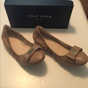 Cole Haan nude flats with bows