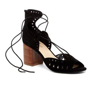 NW Ghillie D'Orsay Stacked Heel Sandal