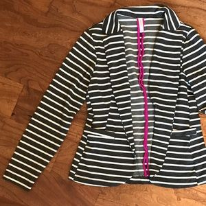 Xhiliration striped blazer