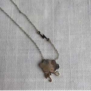NEW Thunderstorm Cloud Silver Necklace
