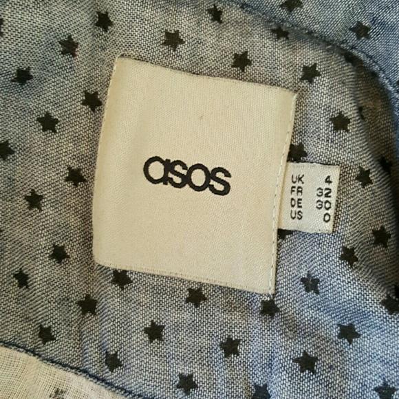 Asos Tops - Asos Star Cotton Denim Buttondown Top Size 0