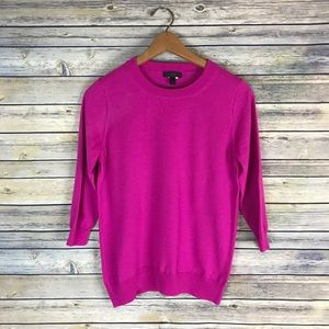 J. Crew Merino Wool Pink Tippi Sweater