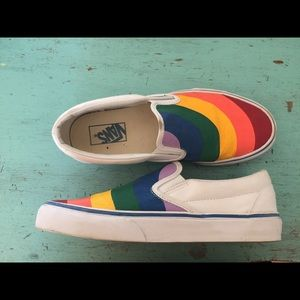 Vans Shoes - Rainbow Slip-On Vans