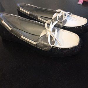 Tri-color Sparkle Loafers