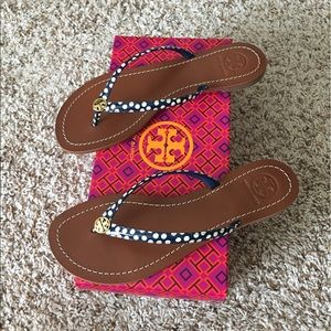f4762cb2f Tory Burch Shoes - Tory Burch Terra Thong Nautical Dots Navy Sea sz8