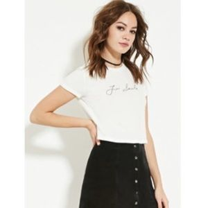 Forever 21 'just smile' cropped top
