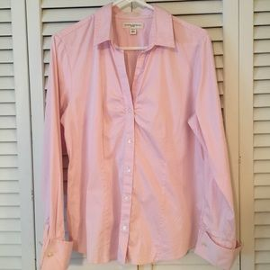 """Banana Republic """"Fitted"""" Button Down shirt size Lg"""