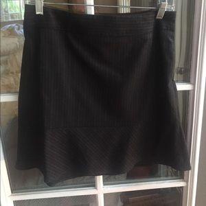 Banana Republic black pin stripes wool mini skirt