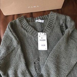 Zara ripped sweater!