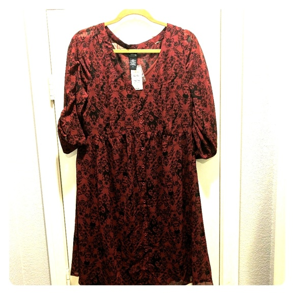 70f896efce1 NWT Disney Villains Torrid Shirtdress - Size 0