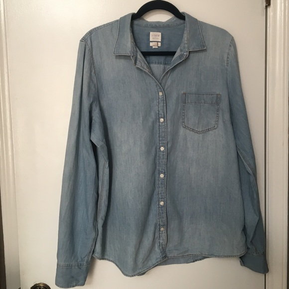 3e8b55f0 J. Crew Factory Tops | Jcrew Perfect Fit Chambray Shirt Size Xl ...