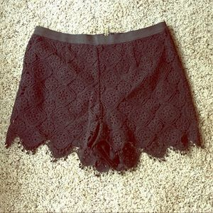 Pants - Black high waist lace shorts
