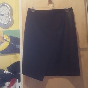 Faux leather asymetrical pencil skirt