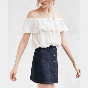 Kimchi Blue Tops - Urban Outfitters Kimchie Blue Off-the-Shoulder Top