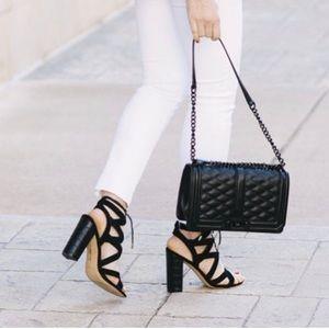 Sam Edelman Yardley lace-up in black sandals