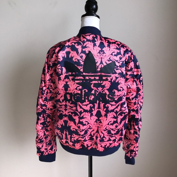 4de5c0bdfb3a adidas Jackets   Blazers - 1 DAY SALE Adidas floral bomber jacket Small pink