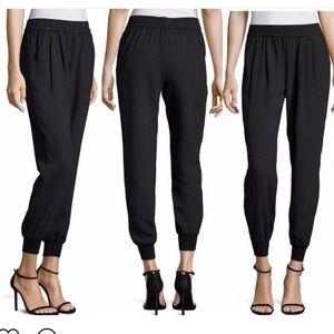 "Joie Mariner Crepe Black Trousers ""Jogger"" Pants"